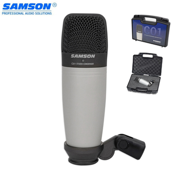 FREE Shipping  Samson C01 Capacitor Studio Condenser Microphone Spider For Recording Vocals, Acoustic Instruments And Drum