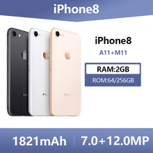 Apple Unlocked Used Original iPhone 8 Hexa Core Smartphones 2GB RAM 64GB/256GB ROM Fingerprint Cell Phones 4G LTE Mobile Phone