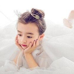 Nuevo diseño Floral perla horquilla niños horquilla niñas broches para el cabello bonitos para princesa temperamento accesorios para el pelo de bebé regalo