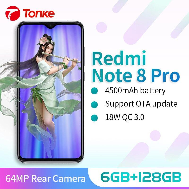 Xiaomi Redmi Note 8 Pro 6GB 128GB MTK Heilo G90T téléphone portable Quad caméras smartphone 64MP 4500mah NFC 18W chargeur rapide 6.53
