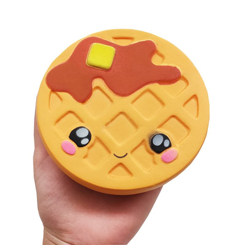 Jumbo Waffles Biscuits Cute Squishy Slow Rising Soft Squeeze Toy Phone Strap Scented Relieve Anitstress Funny Kid Xmas Gift