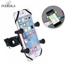 Univerola Bike Phone Mount for Motorcycle&Bike Handlebars X-Clip Stand GPS Bracket, Adjustable, Fits For iPhone 11/11 Pro