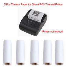 5PCS/lot Hot 57x30mm Thermal Receipt Paper Roll For Mobile POS 58mm Thermal Printer Lot(China)