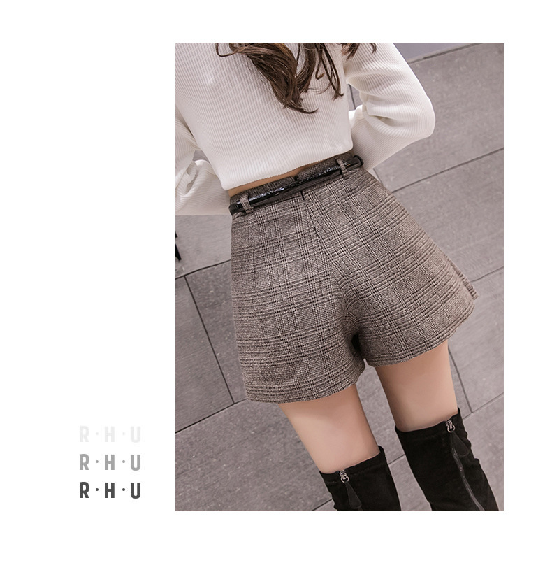 H530b3f6ccb984dd0bbf07fc18c2cfbddV - Irregular Woolen Plaid Shorts Skirts For Women Atumn Winter Office Short Women Plus Size Booty Shorts Feminino