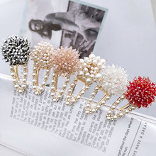 1PC Hair Clips For Girls Pearl Korean Rhinestone Barrettes Hairpins Hairgrips Styling Accessories Women Geometric
