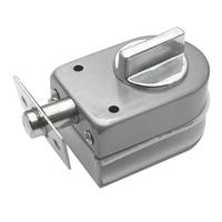 Glass Sliding Door Latch Lock Non Apertured Stainless Steel Glass Door Lock for Shower Room Bathroom Accessories|Electric Lock| |  -