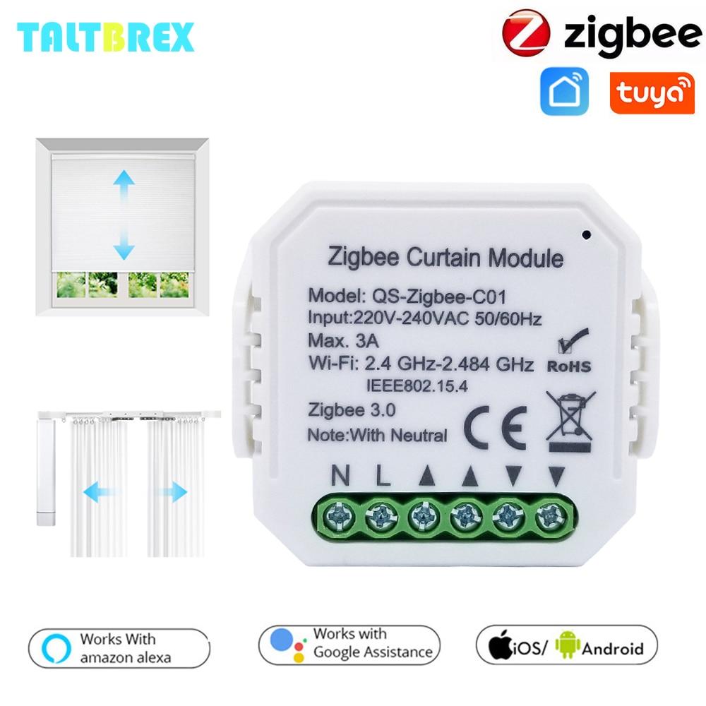 Tuya Smart Zigbee 3.0 Curtain Switch Module for Roller Shutter Blind Motor DIY Smart Home by Google Assistant Alexa Zigbee2Mqtt