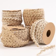 5M Natural Burlap Hemp Jute rope Party Wedding decoration Wrapping DIY Vintage Ribbons Bow Gift Christmas Handwork Accessories