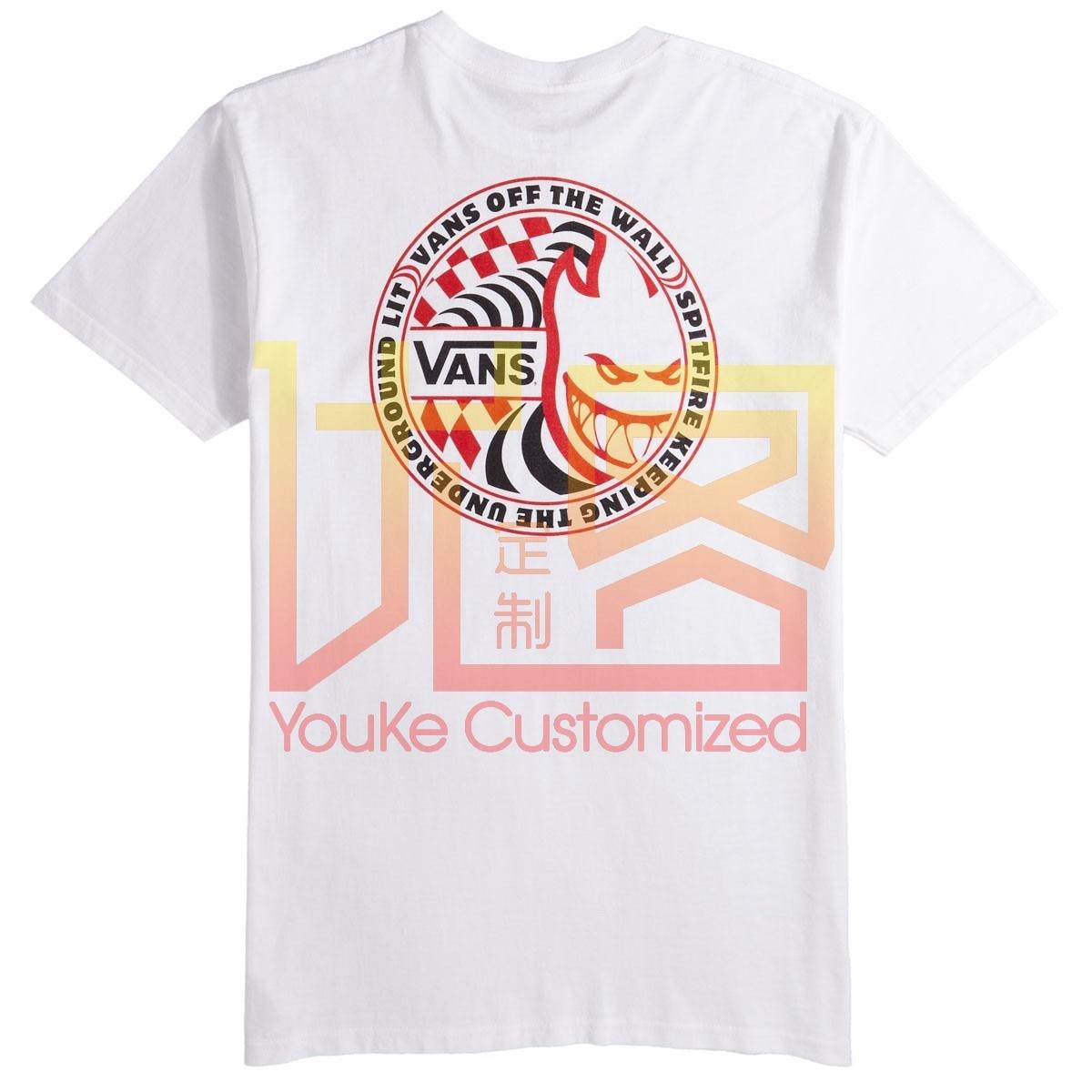 Vans X Spitfire T-Shirt Classic Style T-shirt Winner Tee Men Brand Clothing