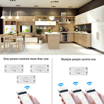 3pcs Wifi Switch Wireless Remote DIY Automatic Light Smart Home Automation Relay Module Controller Work with Amazo Alexa image