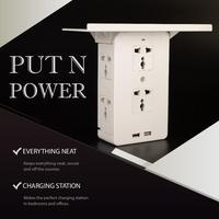 Expansion Buchse & Halterung Dual USB Port buchse Wand Ladegerät Adapter Lade 2A Wand Ladegerät Adapter Power Outlet Weiß Pop soc