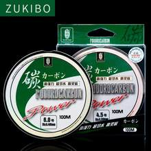 100% Fluorocarbon Fishing Line100M Monofilament Carbon Fiber Transparent nylon fishing wire Strong fly Fishing Accessories pesca