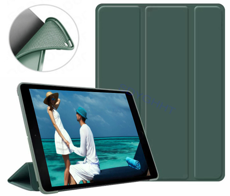 Dark green 2 Gold 2020 case For iPad 10 2 inch 8th 7th Generation model A2270 A2428 Silicone soft bottom