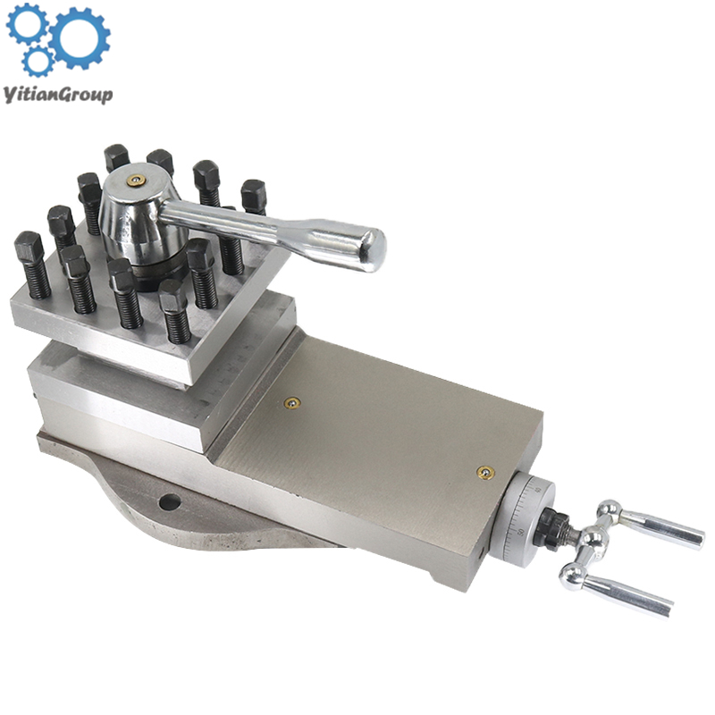 AT300 Tool Holder Mini Lathe Accessories Metal Lathe Holder Tool Assembly Quick Change Lathe Tool Holder Tool 80mm Stroke
