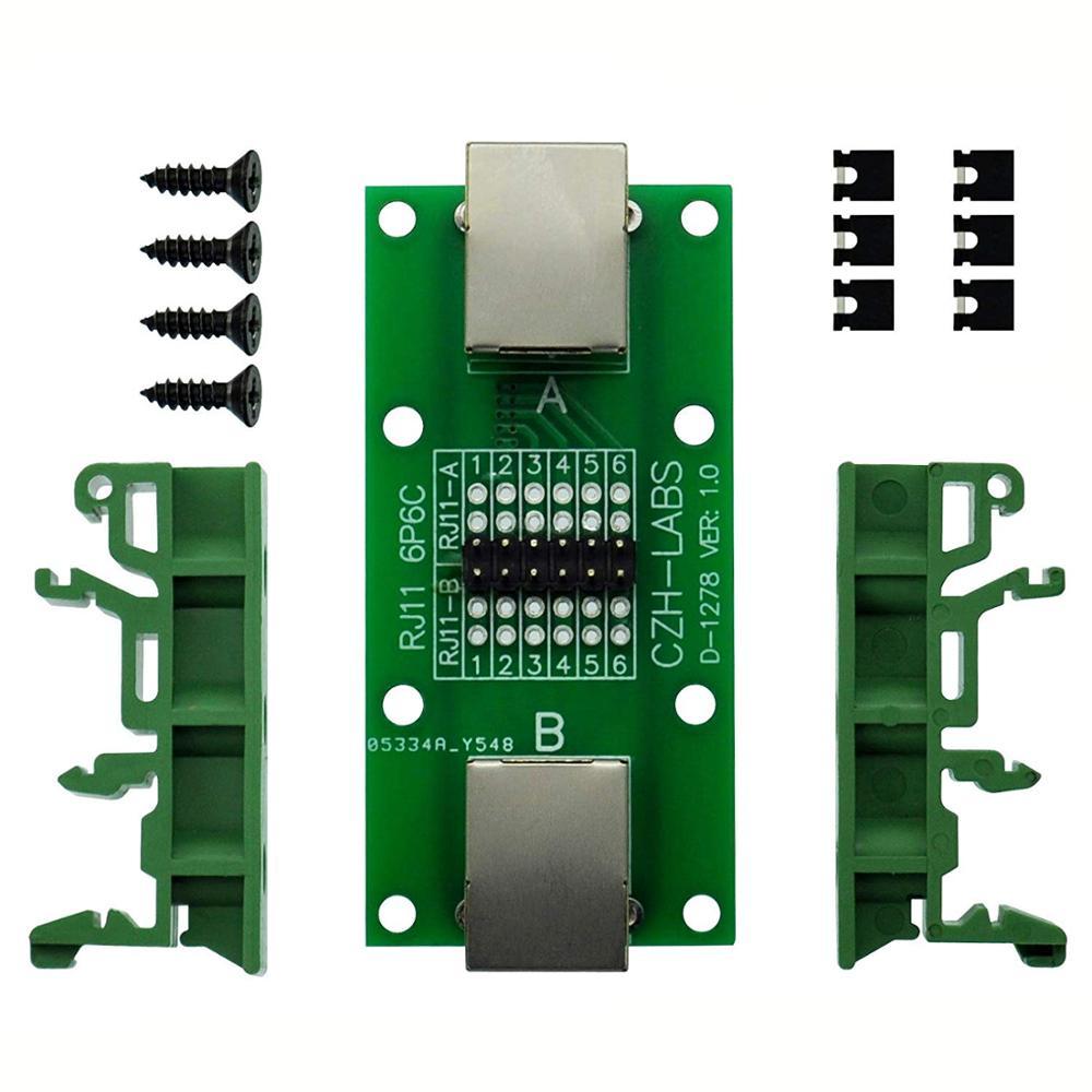 CZH-LABS RJ11/RJ12 6P6C Diagnostic Test Breakout Module Board.