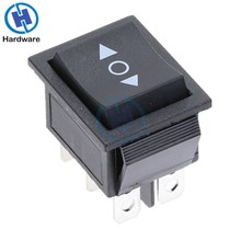 KCD2 Rocker Switch On-Off-On Power Switch 3 Position 6 Pins With Light 16A 250VAC/ 20A 125VAC