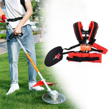 Universal Adjustable Strimmer Shoulder Harness Strap Belt Lawn Mower Grass String Brush Cutter Trimmer Garden Power Pruner Band double padded strimmer brushcutter harness quick release shoulder straps suits