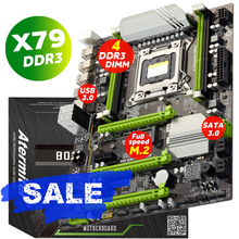 Atermiter X79 Turbo Motherboard  LGA2011 ATX USB3.0 SATA3 PCI-E NVME M.2 SSD Support REG ECC Memory And Xeon E5 Processor