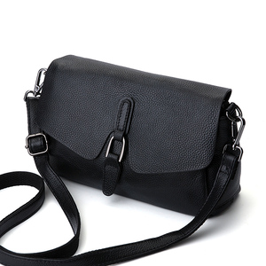 Image 3 - Genuine Leather Hangdbags New Fashion Women Bag Solid Leather Shoulder Bag Flap Crossbody Bags for Women Messenger Bags
