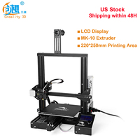 Original Creality3D Ender 3 High Precision 180mm/S 0.4mm Nozzle FDM 3D Printer DIY Kit Steel Frame LCD Display US Free Shipping