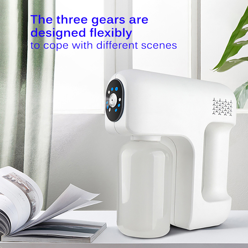 12V Smoke Machine Stage Fogger 400mL Nano Disinfection Steam Gun Water Mist Sprayer For Car Indoor Home DJ Disco Music KTV-1
