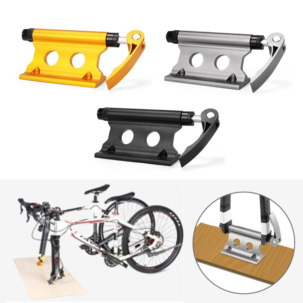Bike Block Fork Mount Aluminum Alloy Quick Release Bicycle Front Fork Fixed Clip Luggage Rack For Truck Trailer