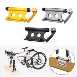 Bloqueo para bicicleta soporte de horquilla de aleación de aluminio de liberación rápida bicicleta horquilla delantera Clip fijo portaequipajes para camión remolque