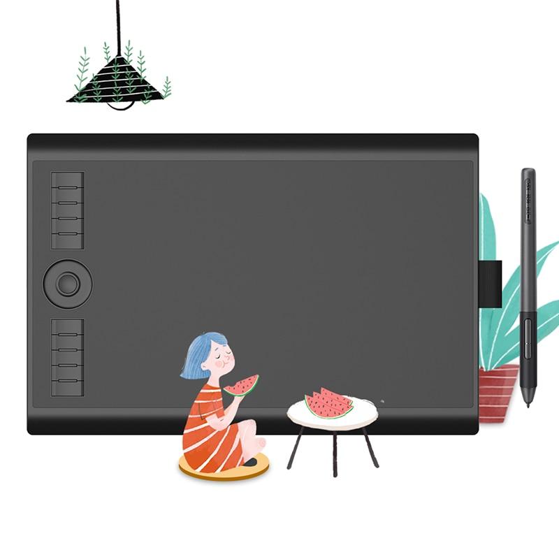 Графический планшет GAOMON M10K PRO 10*6,25 '', планшет для рисования с 8192 уровнями нажатия, стилус без батареи, поддержка функции OTG