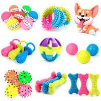 Haustier Hund Spielzeug Welpen Lustige Interaktive Kauen Spielzeug für Kleine Hund Beständig Zu Beißen Zähne Ausbildung Gummi Ball Hund Spielzeug pet Liefert