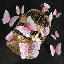 Gold Butterfly Magnetic Fridge Sticker PVC Creative Decoration Accessories 3d Stereo Crafts Factory Direct