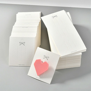 100pcs White Blank Hair Clip Paper Cards Hair Accessories Jewelry Display Card Fashion Hair Clip Holder Packaging Plastic Bag