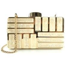 AUAU-акриловые декоративные клатчи, женские вечерние сумки, вечерние, свадебные сумочки на цепочке, сумки через плечо, кошелек, клатч(Шампань