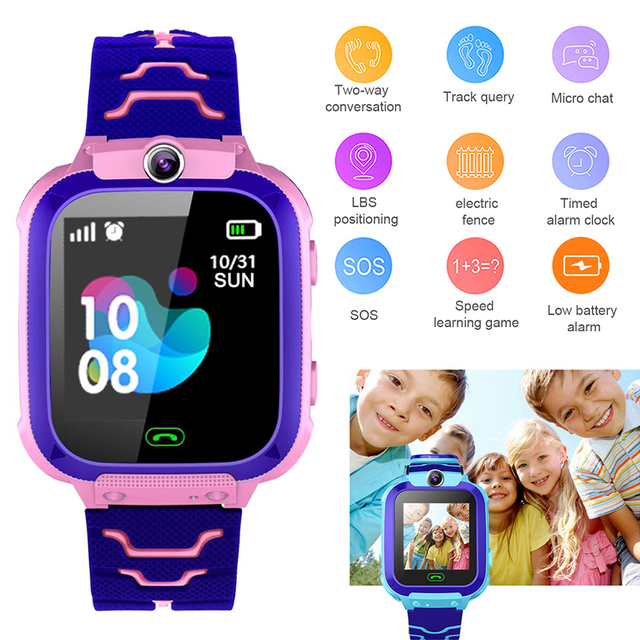 Q12 Smart Phone Watch for Children Student 1.44 Inch not Waterproof Student Smart Watch Dial Call Voice Chat Smartwatch Sports
