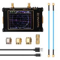 Analizador de antena S-A-A-2 NanoVNA V2, medidor de onda corta, HF, VHF, UHF, filtro de duplexor, pantalla de 3,2 pulgadas, analizador de red de Vector 3G