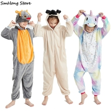 Sleepwear Shark-Dinosaur Cosplay Costume Pijamas Unicorn Baby Children's