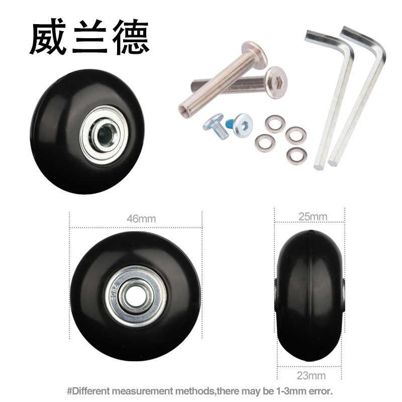 Bagasi Koper Roda Perbaikan Koper Aksesoris Bagasi Roda Yang Universal Penggantian 360 Spinner Diam Baru Kastor