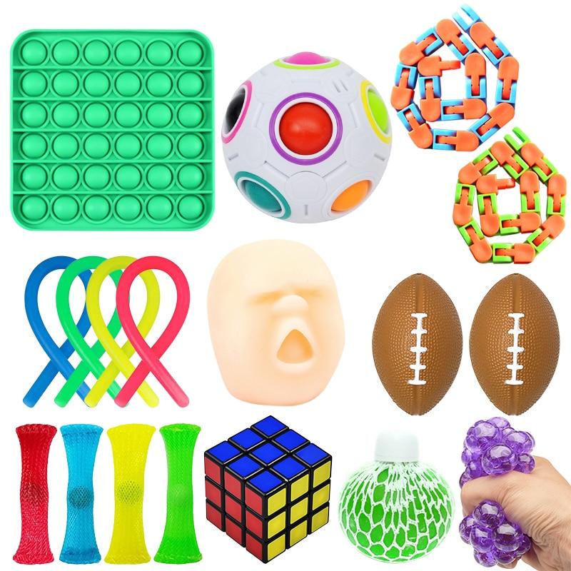 Fidget Toys 18/21/23PCS Pack Sensory Toy Set Antistress Relief Autism Anxiety Anti Stress img4