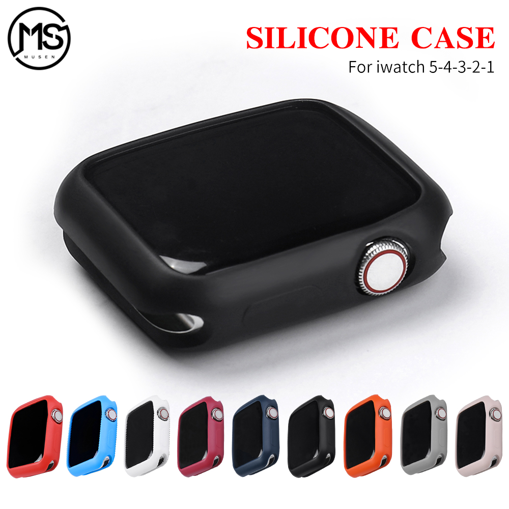 Apply To Apple Watch 4 5 40MM 44MM ProBefit Candy Soft Silicone Case Suitable For IWatch 3 2 1 42MM 38MM Cover Protection Shell