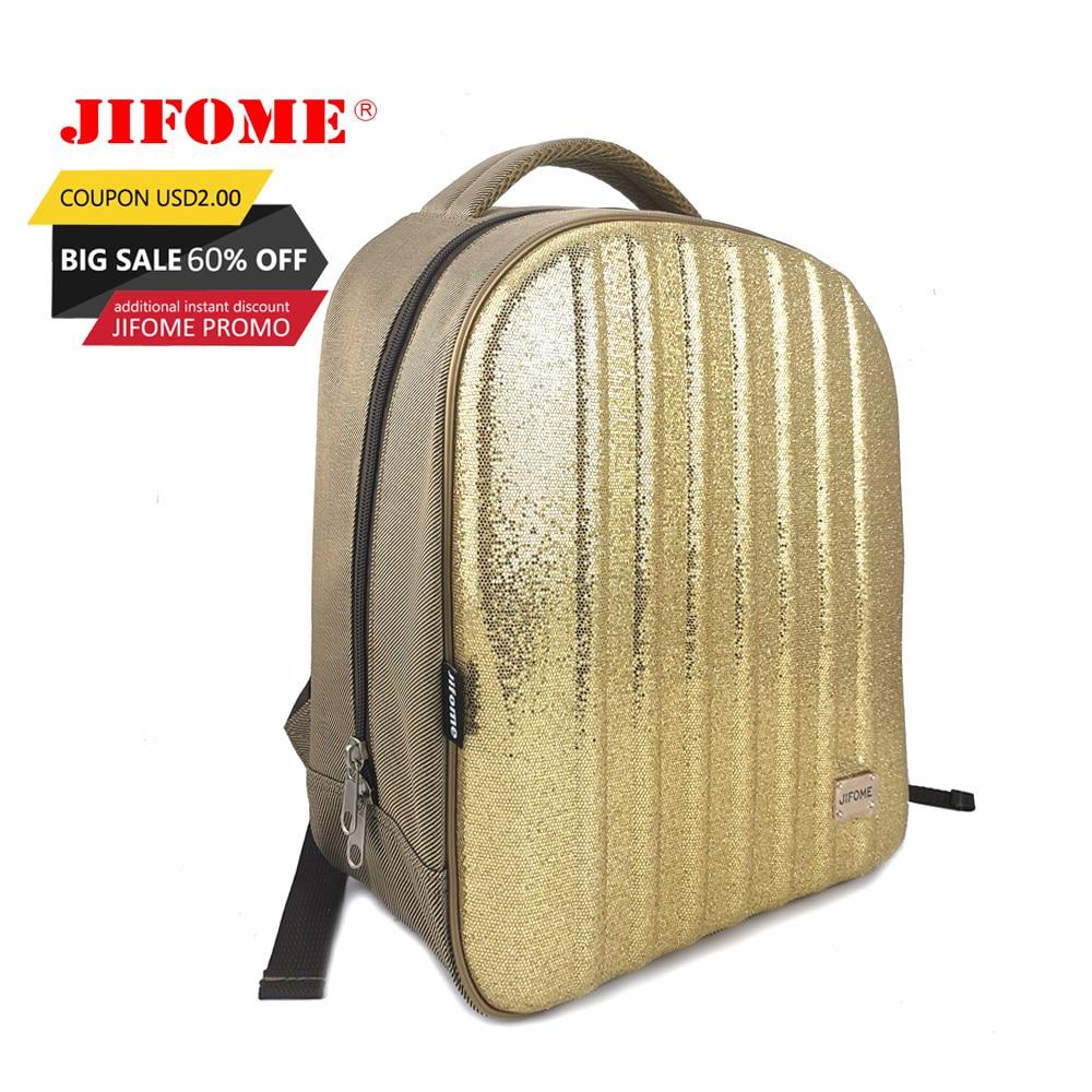 JIFOME 15 pouces Shinning mode femmes sac à dos adolescentes sac d'école EVA coquille dure femelle pailleté sac à dos de luxe Mochila