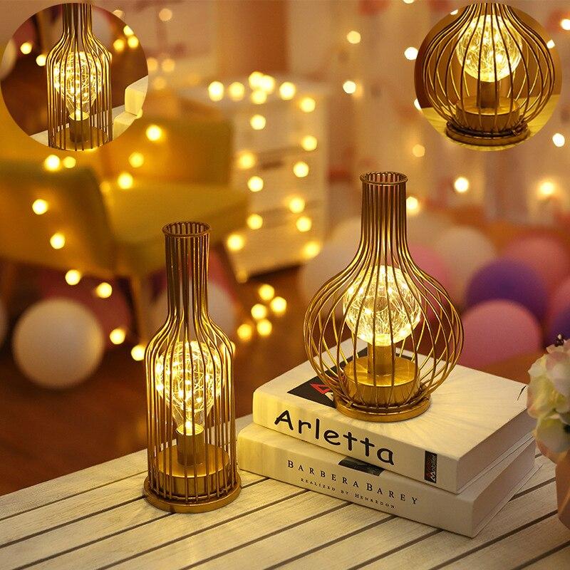 as lampadas led da bateria luz da noite forma de garrafa de vinho tinto de vidro