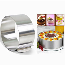 Hot Sale 1Pc Adjustable Mousse Ring 3D Round Cake Molds Stainless Steel Baking Moulds Kitchen Dessert Cake Decorating Tools stainless steel 6 10cm adjustable cake mousse ring 3d round cake mold cake decorating baking accessories tools