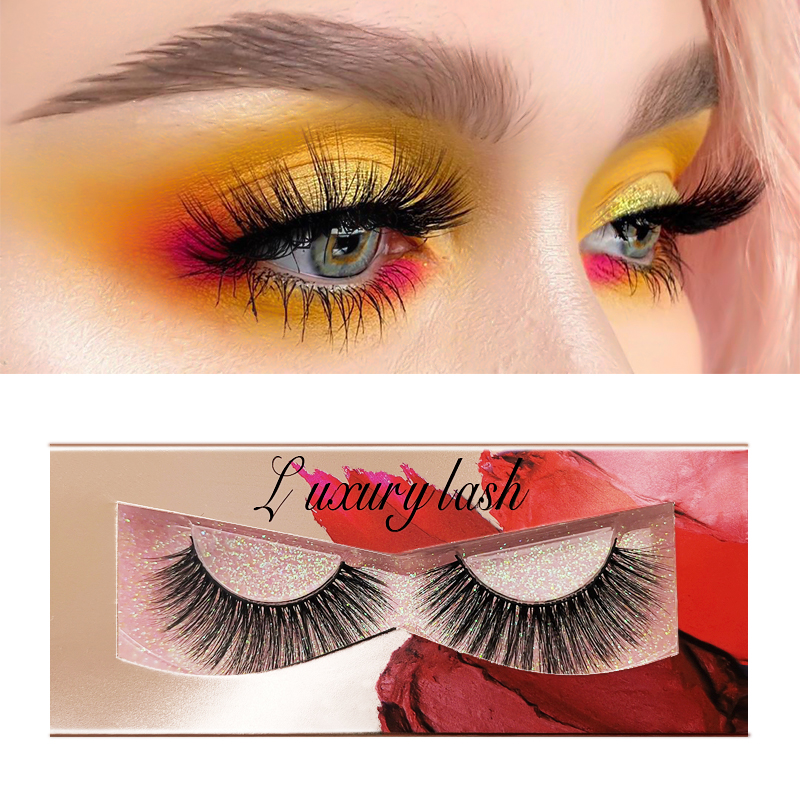 New 1 Pair Champagne Mink Eyelashes Natural Long 3d Eyelashes 3d Mink Lashes Hand Made Makeup False Lashes Faux Cils For Beauty