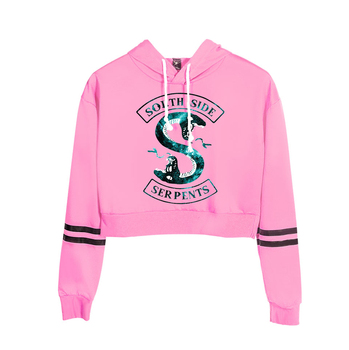 Riverdale South Side Serpents Print Hoodies Long Sleeve Shirts Women's Sweatshirt Harajuku Hoodies 2