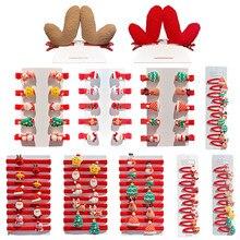 Conjunto con rizador para el pelo para niña, horquillas navideñas para el pelo, accesorios para el cabello para recién nacido, 10/1 Uds.