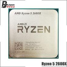 AMD Ryzen 5 2600X R5 2600X3.6 GHz 6 Core 12 ด้าย 95W CPU โปรเซสเซอร์ YD260XBCM6IAF ซ็อกเก็ต AM4