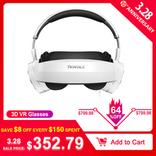 Royole 3D VR Glasses All In One With HIFI Headphones 3D Virtual Reality Glasses Touch Control