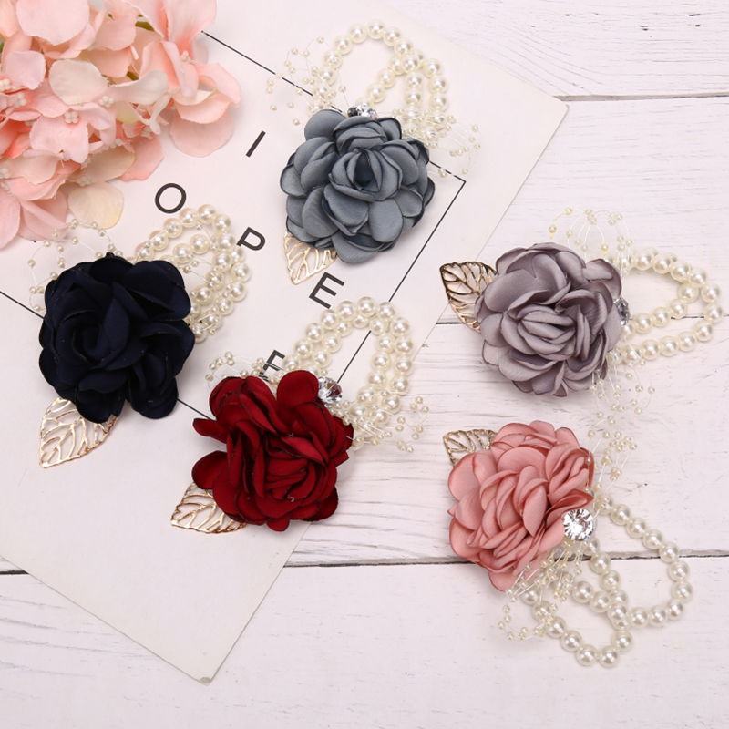 New Wrist Flower Girls Bridesmaid Sisters Wedding Party Bracelet Bridal Prom Accessories Wedding Supply Party Decor