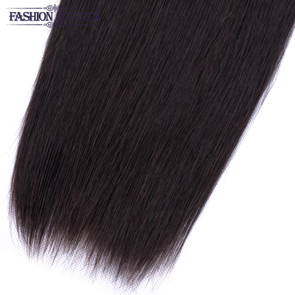 H530e192d36c241d382cc1fa00cc3ee8ds 3 Bundles With Frontal Brazilian Straight Human Hair Weave Bundles With Closure Lace Frontal Non Remy Hair Fashion Queen
