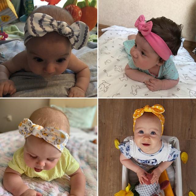 3Pcs Rabbit Ear Baby Headband For Girls Flower Neonata Baby Bows Turban Haarband Hair Accessories Newborn Infant Girl Headband 2