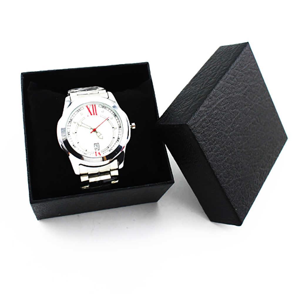 1 قطعة 8.5*8.5 سنتيمتر ساعة مربعة حقيبة للتخزين عرض مجوهرات المنظم صندوق ورقي الحاضر صندوق حزمة هدايا коробка كايكسا دي relógio